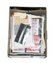 Worldwide holding in a file box incl. Great Britain 1840 1d black (poor), a range of 1841 1d reds