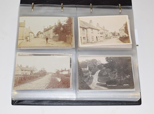 A Red Album Containing Approx. 226 Postcards of North And East Yorkshire Villages. An outstanding - Image 2 of 8