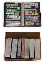 Carton containing 7 volumes incl. 5 large Lighthouse stockbooks with 10s of 1000s of stamps mainly