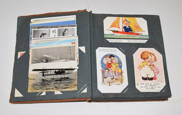 A Tan Album Containing Approx. 150 Subject Cards. These include a wide mixture such as Mickey Mouse,