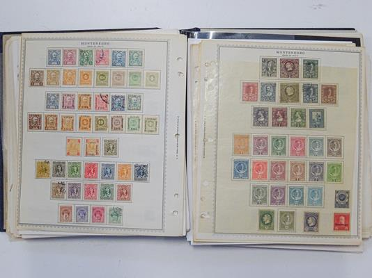 Eastern and South-Eastern Europe, Carton loaded with sheaves of album pages as bought by country - Image 5 of 9