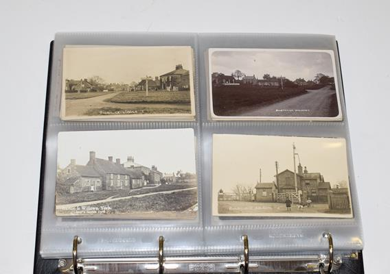 A Red Album Containing Approx. 134 Cards of North And East Yorkshire Villages. A valuable collection - Image 2 of 10