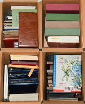 Worldwide Accumulation in Four Cartons, 40+ albums with 1000s of mint and used stamps souvenir