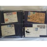 Worldwide Covers in five cover albums, largely Commonwealth KGVI/QE2 incl. commercial mail, note