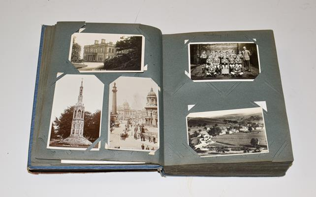 A Blue Album Containing Approx. 250 Postcards of Yorkshire. A wide selection over different - Image 3 of 5