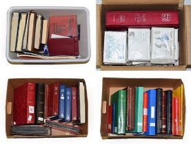 Large Worldwide Accumulation In Four Boxes incl. Commonwealth in stockbooks with much KGVI material,