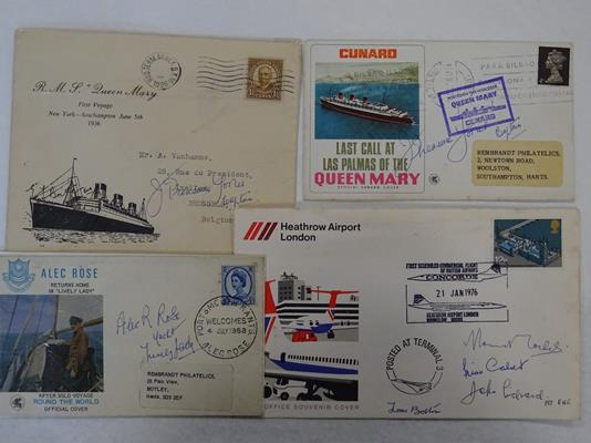 Autographs: 1966 World Cup winners, Neil Armstrong, etc. Very interesting group of 16 - Image 5 of 5
