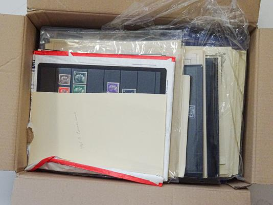 Germany and Area, Carton stuffed with packets of album pages representing collections bought in