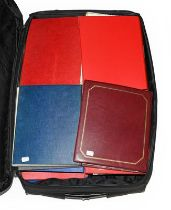 GB and Worldwide Collection in 21 binders filling a large suitcase. The GB and Channel Islands/IOM