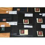 Great Britain, line-engraved perforate group, with five different mint red plates, varying