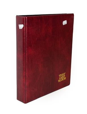 A Red Album Containing Approx. 134 Cards of North And East Yorkshire Villages. A valuable collection