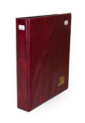 A Red Album Containing Approx. 226 Postcards of North And East Yorkshire Villages. An outstanding