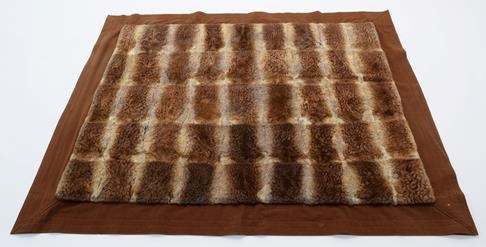 Pelts/Hides: An Early 20th Century Duck Billed Platypus Patchwork Carriage Rug, the overall - Image 2 of 4