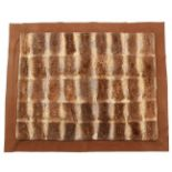 Pelts/Hides: An Early 20th Century Duck Billed Platypus Patchwork Carriage Rug, the overall