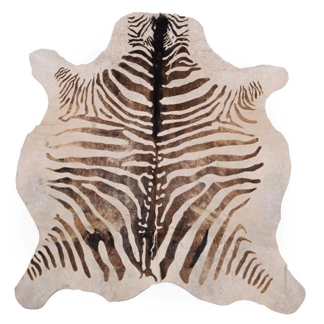 Hides/Skins: A Collection of Cow & Calf Hides, modern, a large Cow hide rug, printed as a Zebra,