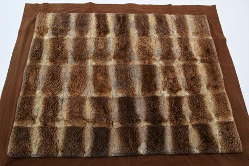 Pelts/Hides: An Early 20th Century Duck Billed Platypus Patchwork Carriage Rug, the overall - Image 3 of 4