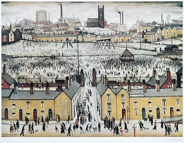 After Laurence Stephen Lowry RBA, RA (1887-1976) ''Britain at Play'' Signed, with the blindstamp for