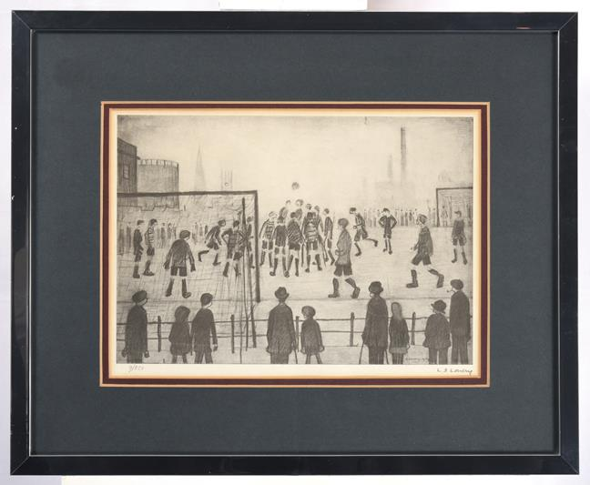 After Laurence Stephen Lowry RBA, RA (1887-1976) ''The Football Match'' Signed in pencil and - Image 2 of 2