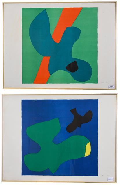 Philip Sutton, RA (b.1928) ''Vancouver'' (1966) ''Hawaii'' (1966) Each signed and numbered 12/250, - Image 2 of 2