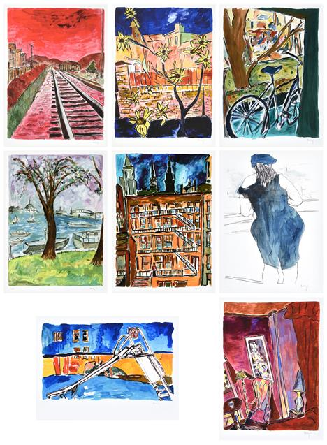 Bob Dylan (b.1941) American ''The Drawn Blank Series'', (2014) Including ''Train Tracks'', '' - Image 10 of 10