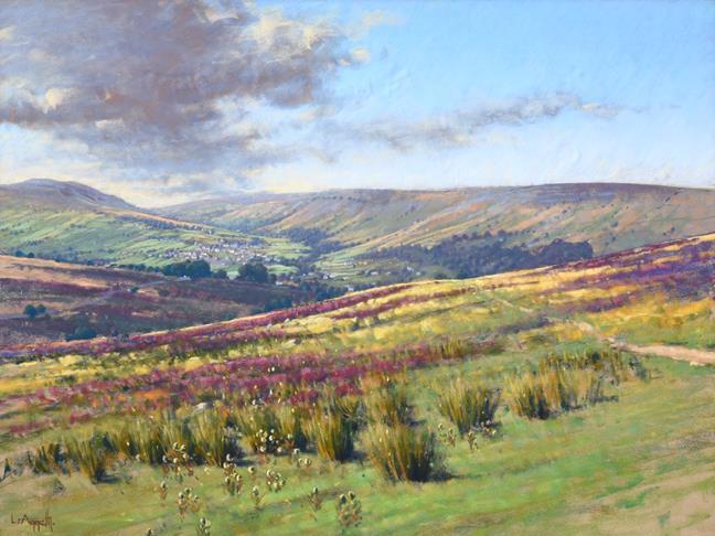 Lionel Aggett RIBA, SWAC (1938-2009) ''Swaledale'' Signed, pastel, 58cm by 77cm Provenance: Walker