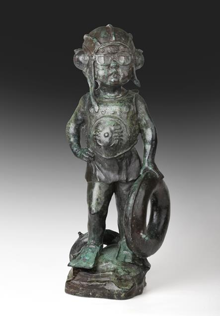 Graham Ibbeson MA (b.1951) ''Sea Guardian'' Signed and numbered 3/9, bronze, 49cm high Sold together