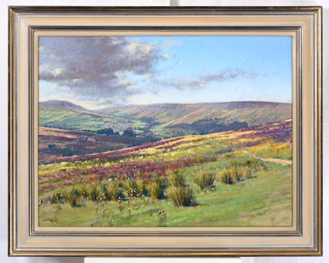 Lionel Aggett RIBA, SWAC (1938-2009) ''Swaledale'' Signed, pastel, 58cm by 77cm Provenance: Walker - Image 2 of 2