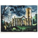 John Egerton Christmas Piper CH (1903-1992) ''Fountains Abbey'' Signed and numbered 136/150,