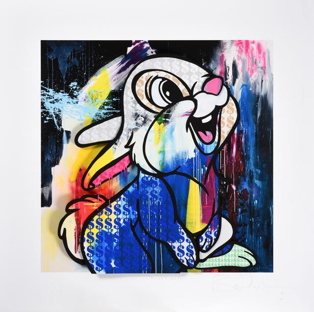 Ben Allen (b.1979) ''Money Rabbit'' (2020) Signed, inscribed, stamped and numbered 21/50, UV print