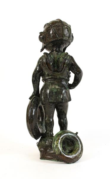 Graham Ibbeson MA (b.1951) ''Sea Guardian'' Signed and numbered 3/9, bronze, 49cm high Sold together - Image 4 of 4