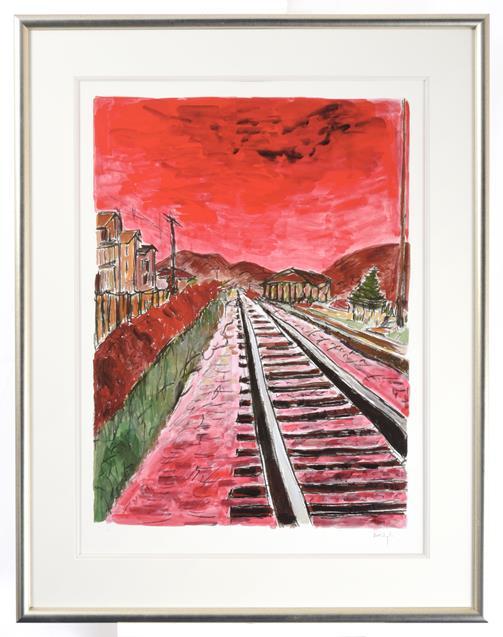 Bob Dylan (b.1941) American ''The Drawn Blank Series'', (2014) Including ''Train Tracks'', '' - Image 2 of 10
