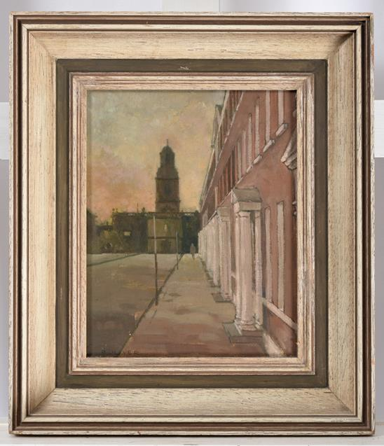 Raymond Oliver (b.1933) ''St Johns, North Wakefield'' Signed, oil on board, 22cm by 17cm - Image 2 of 2