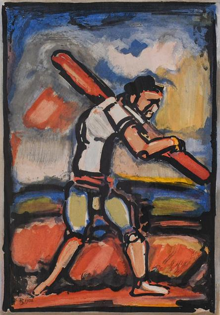 Georges Rouault (1891-1958) French ''Le Vieil Homme Chemine'' (The Old Man Plods On) Etching