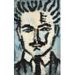 Joash Woodrow (1927-2006) ''Portrait of Saul Woodrow'' Oil on sackcloth, 109cm by 67cm Provenance: