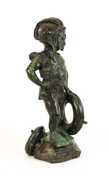 Graham Ibbeson MA (b.1951) ''Sea Guardian'' Signed and numbered 3/9, bronze, 49cm high Sold together - Image 3 of 4