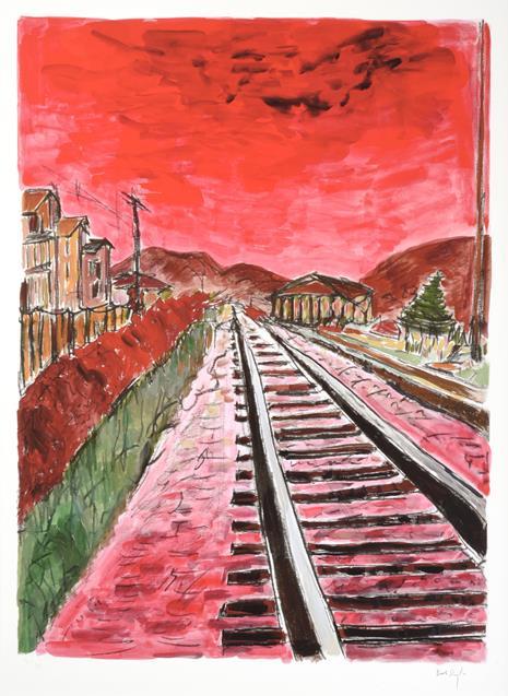 Bob Dylan (b.1941) American ''The Drawn Blank Series'', (2014) Including ''Train Tracks'', ''