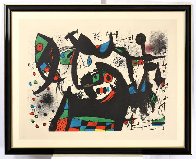 Joan Miró (1893-1983) Spanish Abstract Signed and numbered 59/75, lithograph, 63cm by 83cm Artist' - Image 2 of 4