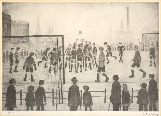 After Laurence Stephen Lowry RBA, RA (1887-1976) ''The Football Match'' Signed in pencil and