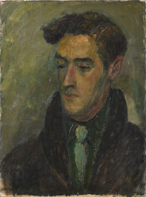 Attributed to Alexander Jamieson (1873-1937) Portrait of a man Signed, oil on canvas, with further