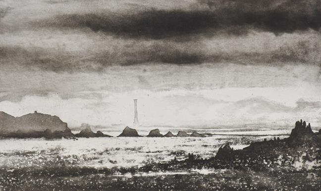 Norman Ackroyd CBE, RA (b.1938) ''Bishop's Rock'' Signed and dated (20)05, inscribed and numbered