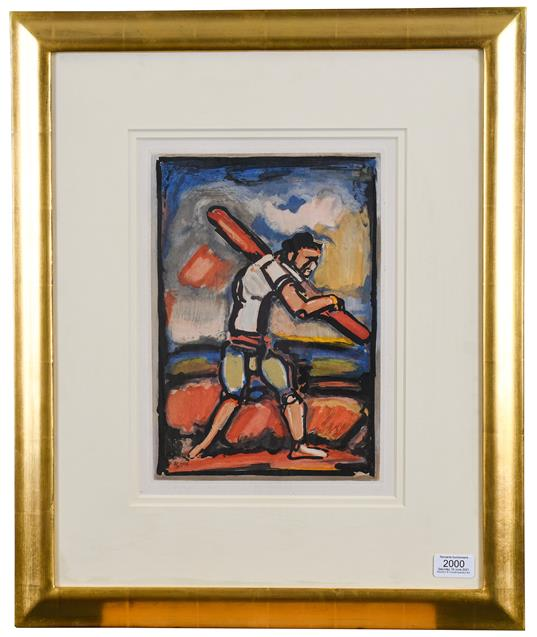 Georges Rouault (1891-1958) French ''Le Vieil Homme Chemine'' (The Old Man Plods On) Etching - Image 2 of 2