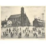After Laurence Stephen Lowry RBA, RA (1887-1976) ''St. Mary's Beswick'' Signed in pencil and