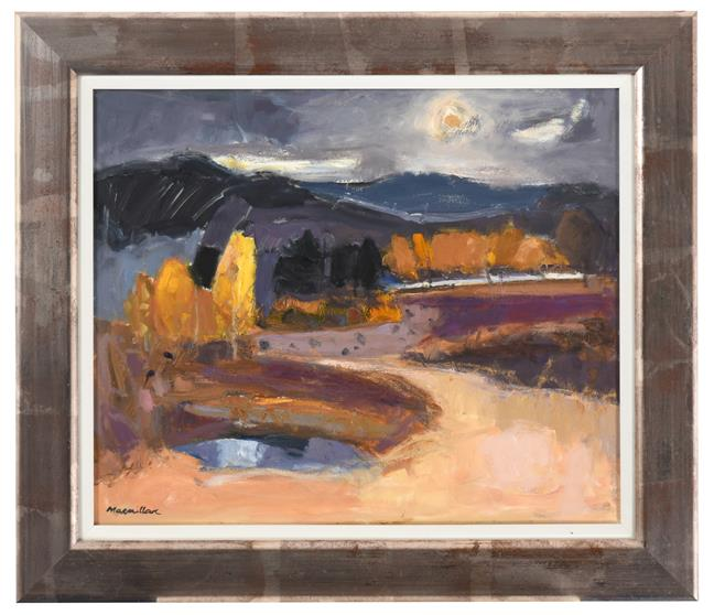 Sheila MacMillan (1928-2018) Scottish ''Kincraig Marsh'' Signed, oil on canvas, 48cm by 58cm - Image 2 of 2