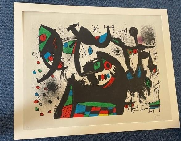 Joan Miró (1893-1983) Spanish Abstract Signed and numbered 59/75, lithograph, 63cm by 83cm Artist' - Image 4 of 4