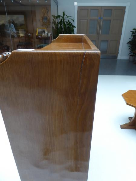 Workshop of Robert Mouseman Thompson (Kilburn): An English Oak 4ft Open Bookcase, solid ends and - Image 10 of 16