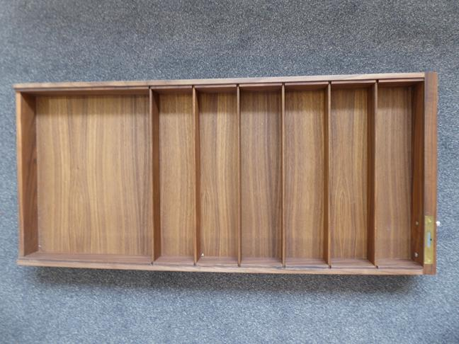 A Carl Hansen & Son Walnut CH110 Directors Desk, with two slender drawers, each with dividers - Image 9 of 9