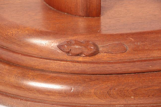 Beaverman: Colin Almack (Sutton-under-Whiteshonecliffe): An Iroko Console Table, the oval top on - Image 2 of 2