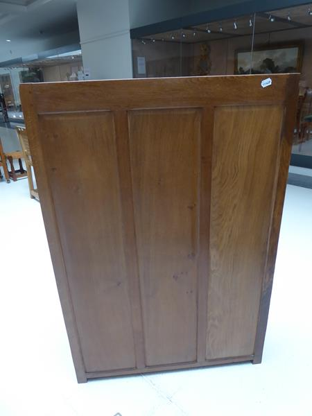 Workshop of Robert Mouseman Thompson (Kilburn): An English Oak 4ft Open Bookcase, solid ends and - Image 12 of 16