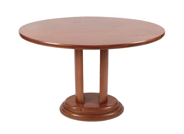 Beaverman: Colin Almack (Sutton-under-Whiteshonecliffe): An Iroko Console Table, the oval top on