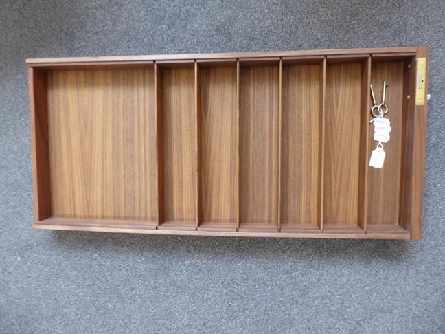 A Carl Hansen & Son Walnut CH110 Directors Desk, with two slender drawers, each with dividers - Image 7 of 9
